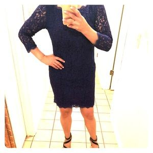 Purple lace party dress in excellent condition.